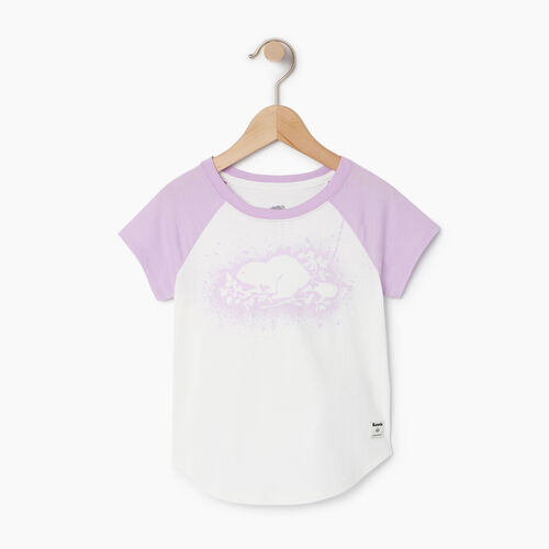 Roots-Clearance Kids-Toddler Splatter Raglan T-shirt-Ivory-A