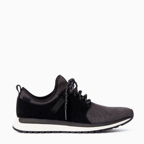 Roots-Footwear Women's Footwear-Womens Rideau Low Sneaker-Black-A