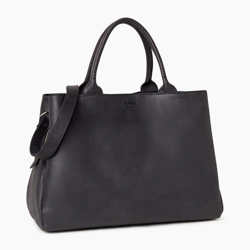 Roots-Leather  Handcrafted By Us Our Favourite New Arrivals-Large Mont Royal Bag-Jet Black-A