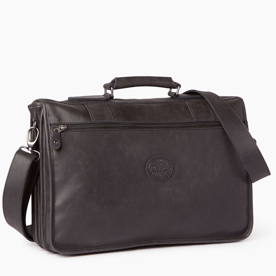 Roots-Leather  Handcrafted By Us Collections-Grad School-Jet Black-C