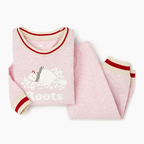 Roots-Kids Baby Girl-Baby Buddy Pj Set-Fragrant Lilac Mix-A