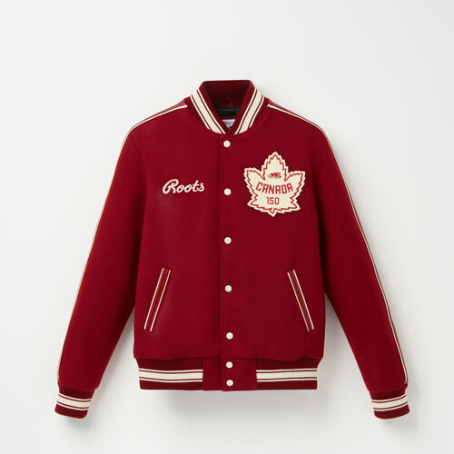 Roots-Men Collections-Roots Heritage Award Jacket-Red-A