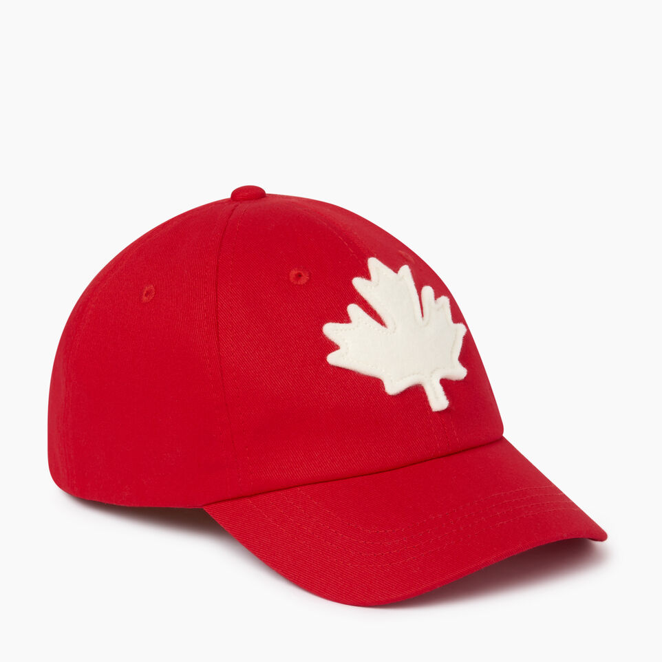 Roots-Clearance Kids-Kids Canada Baseball Cap-Red-A