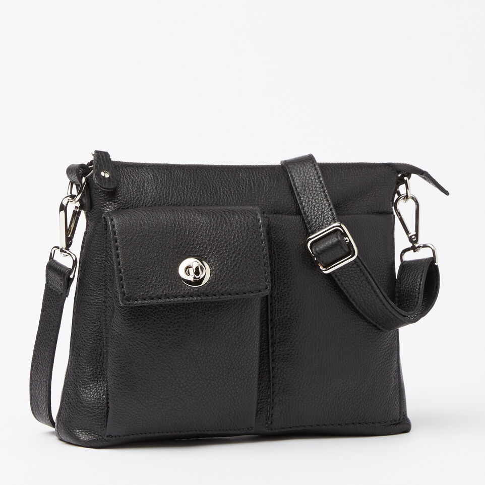 Roots-Leather Handbags-The Villager Prince-Black-A
