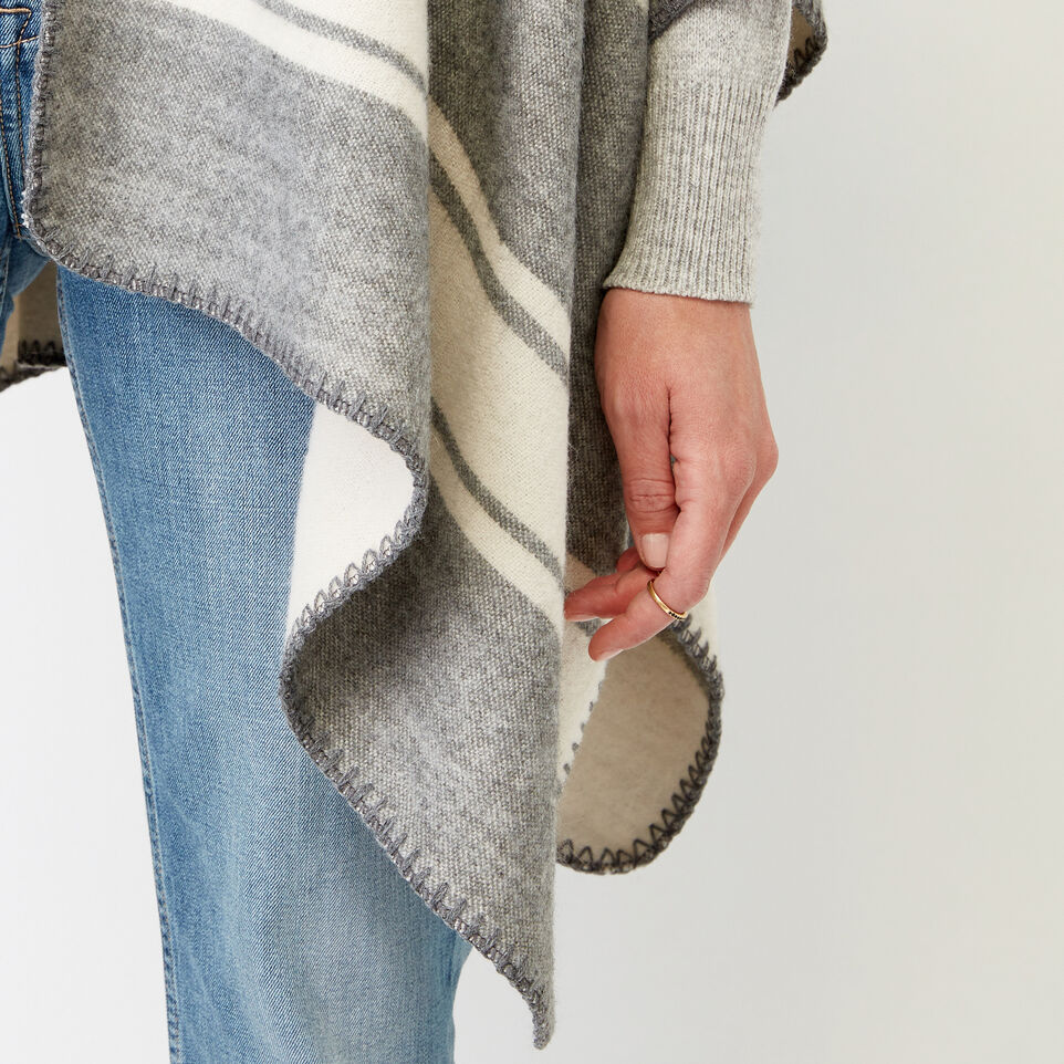 Roots-Women Our Favourite New Arrivals-Tolman Wrap-Grey Mix-E