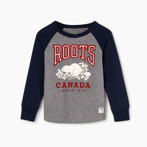 Roots-Kids Our Favourite New Arrivals-Toddler Classic Raglan T-shirt-Navy Blazer-A