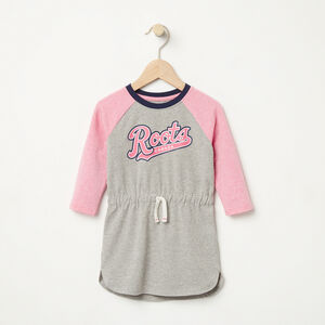 Roots-Kids Baby Girl-Baby Tracy Script Dress-Grey Mix-A
