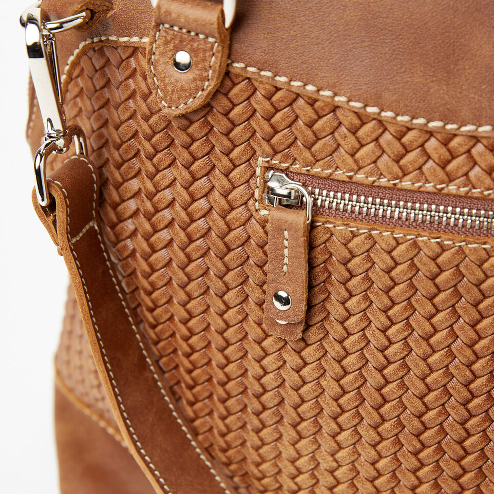 Roots-undefined-Sac Cafe en cuir tressé Tribe-undefined-D