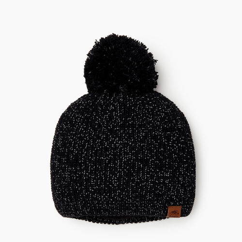 Roots-Women Our Favourite New Arrivals-Snowy Fox Pom Pom Toque-Black Fox-A