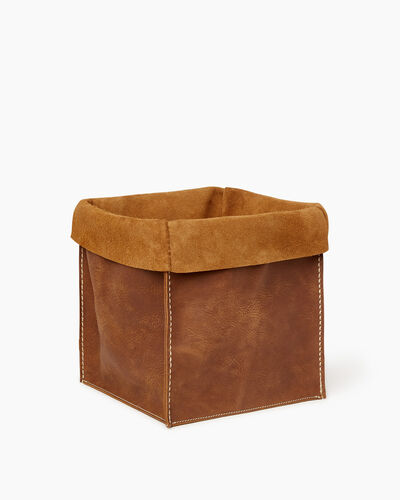 Roots-Men Leather Accessories-Large Rollover Basket Tribe-Natural-A