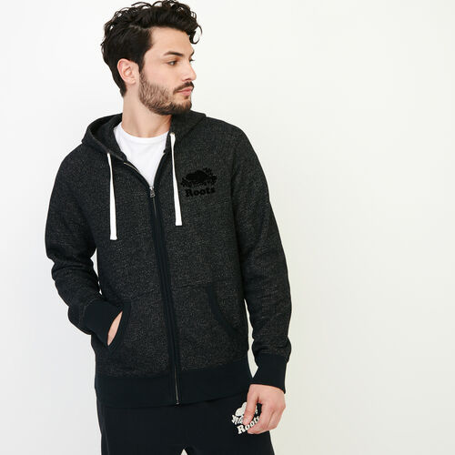 Roots-Men Categories-Original Full Zip Hoody-Black Pepper-A