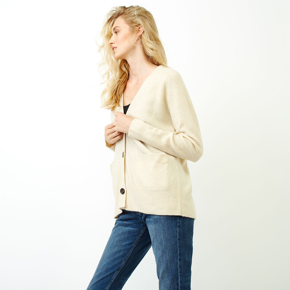 Roots-Women Our Favourite New Arrivals-Hemlock Button Cardigan-Fog Mix-C