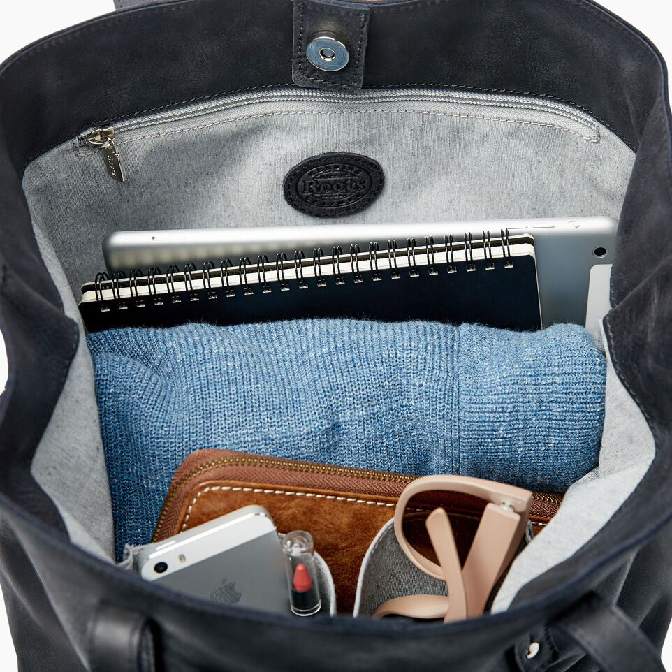 Roots-Leather Categories-Amelia Tote-Jet Black-E