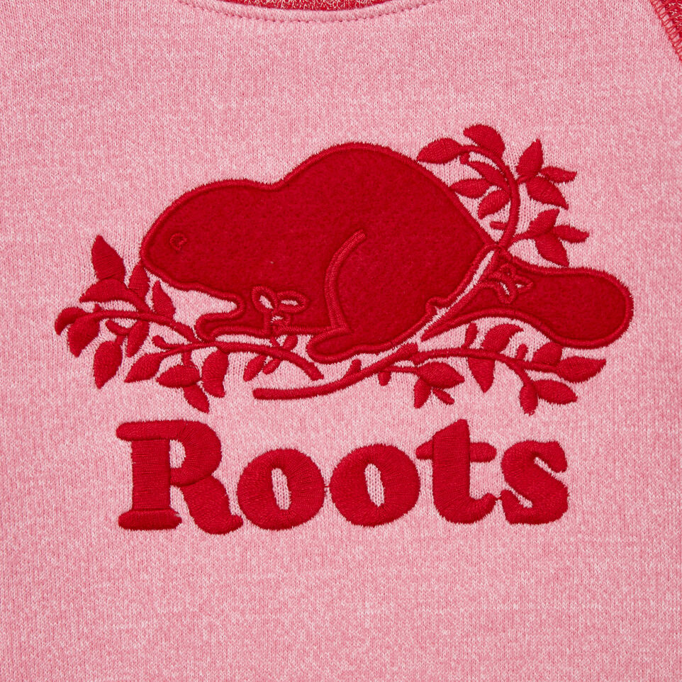 Roots-Sale Kids-Baby Roots Cabin Cozy Sweatshirt-Cashmere Rose Pepper-C