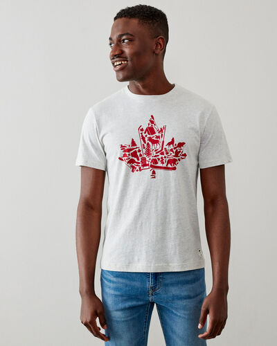 Roots-Men Bestsellers-Mens Maple Collage T-shirt-White Mix-A