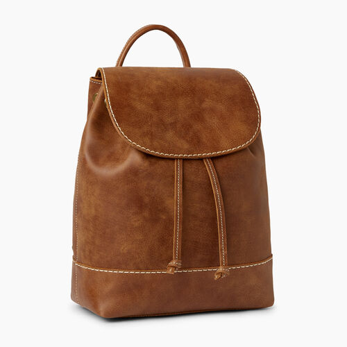 Roots-Leather  Handcrafted By Us Backpacks-Sandbanks Pack-Natural-A