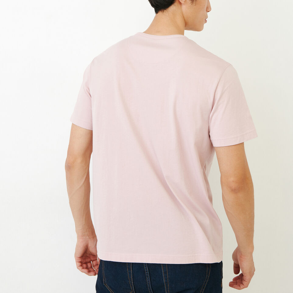 Roots-Men Our Favourite New Arrivals-Essential Pocket T-shirt-Burnished Lilac-D
