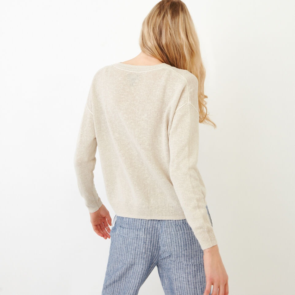 Roots-Women Our Favourite New Arrivals-Tathlina Crew Sweater-Natural-D