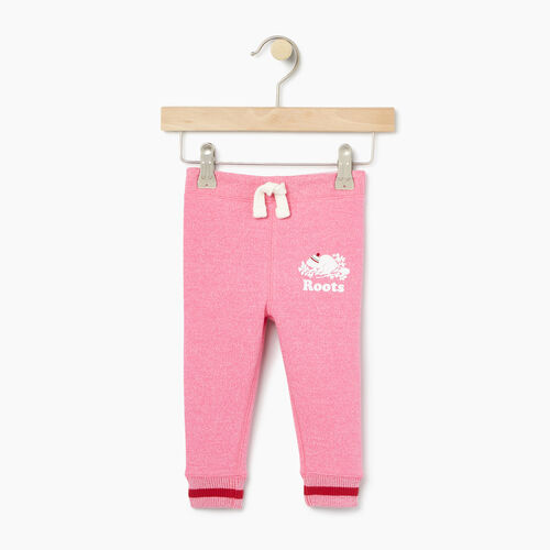 Roots-Kids Bottoms-Toddler Buddy Cozy Fleece Sweatpant-Pink Pepper-A