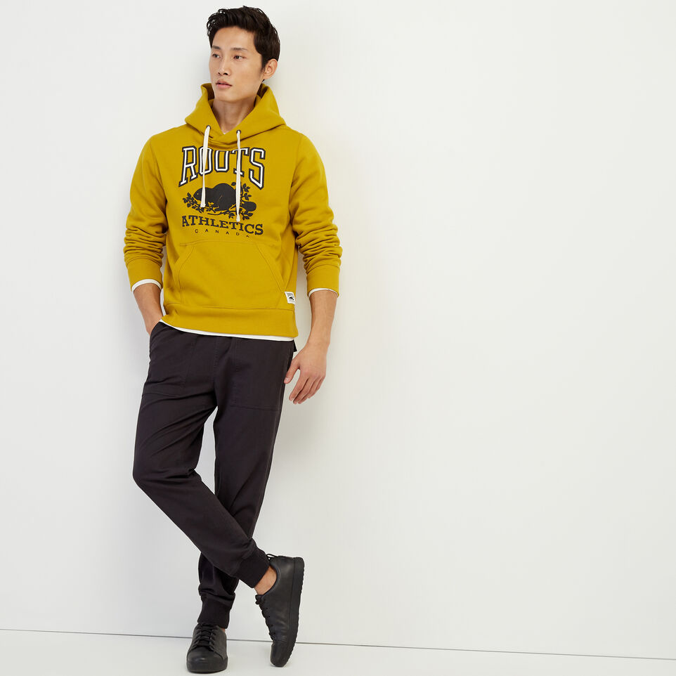 Roots-Men Our Favourite New Arrivals-RBA Kanga Hoody-Amber Green-B