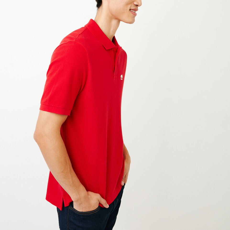 Roots-Men Categories-Heritage Pique Polo-Racing Red-C