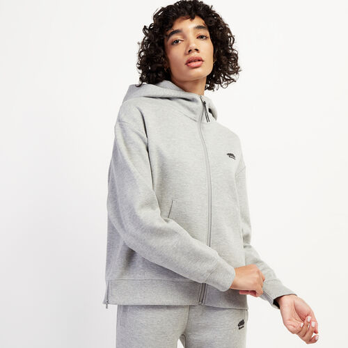 Roots-New For November Journey Collection-Journey Scuba Neck Hoody-Grey Mix-A