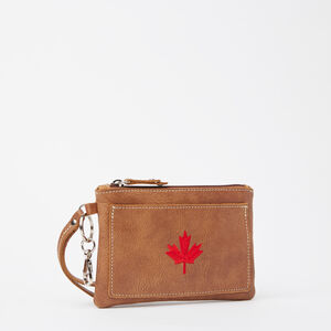 Roots-Leather Leather Pouches-Maple Leaf Everyday Clutch Tribe-Africa-A