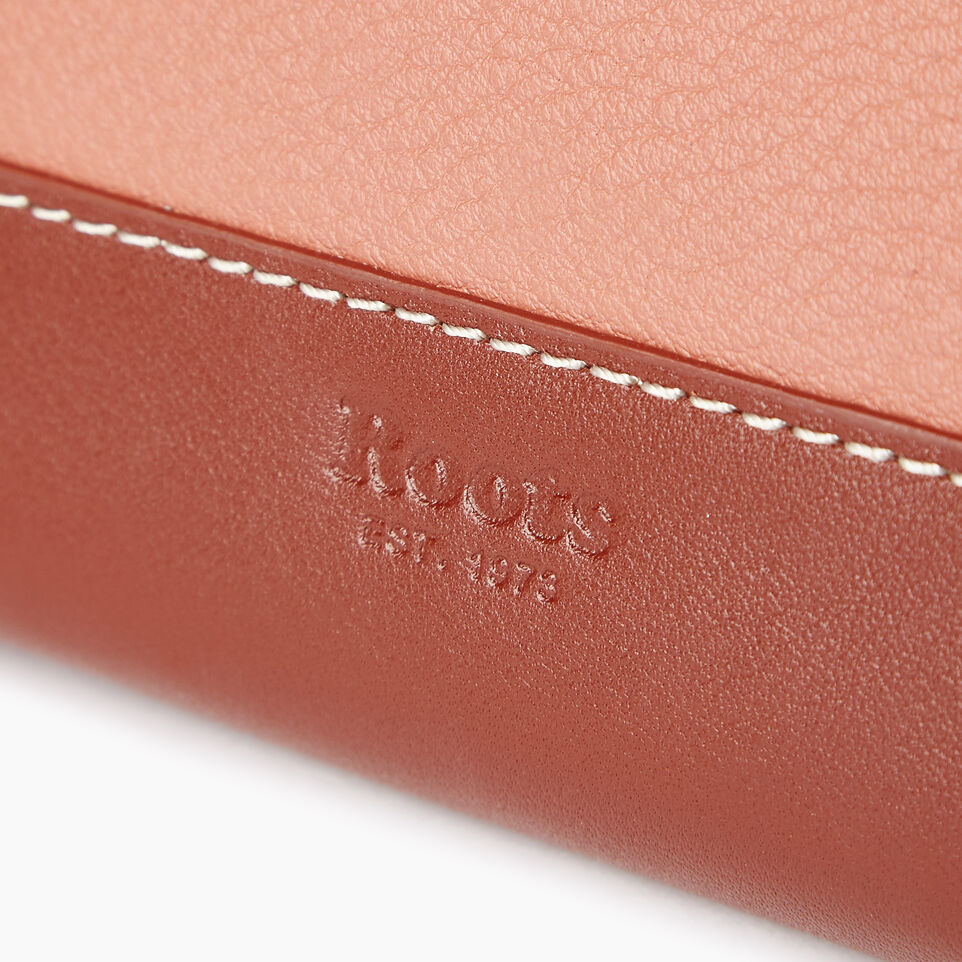 Roots-Leather Our Favourite New Arrivals-Small Zip Wallet-Canyon Rose/oak-E