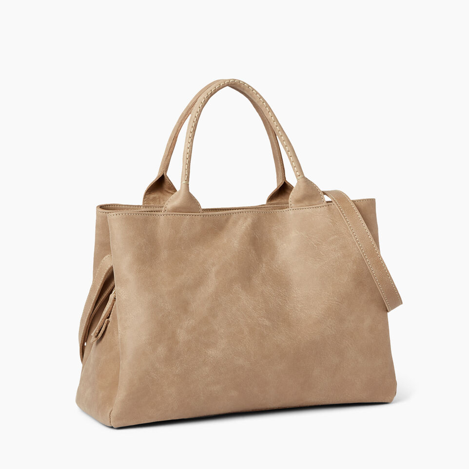 Roots-Leather  Handcrafted By Us Handbags-Mont Royal Bag-Sand-C