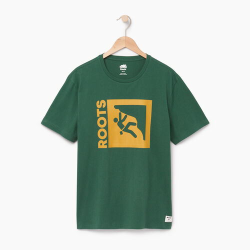 Roots-Men Our Favourite New Arrivals-Mens Roots Outdoors T-shirt-Hunter Green-A