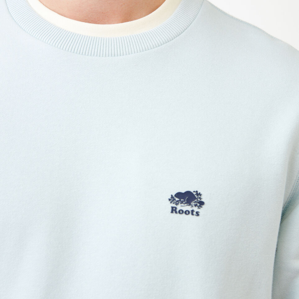 Roots-Men Our Favourite New Arrivals-Cooper Crew Sweatshirt-Baby Blue-E