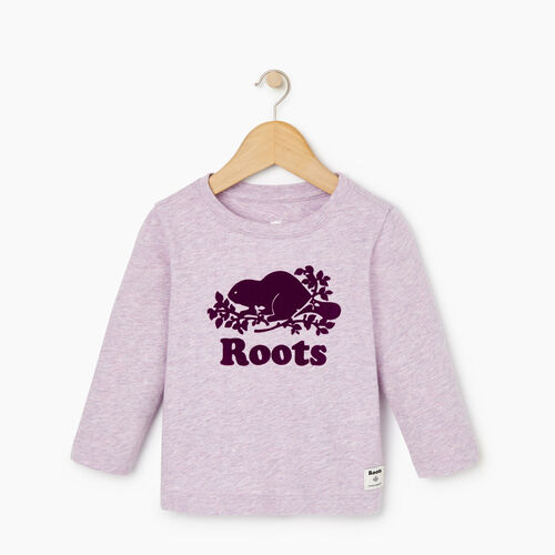 Roots-Sale Kids-Baby Original Cooper Beaver T-shirt-Lupine Mix-A