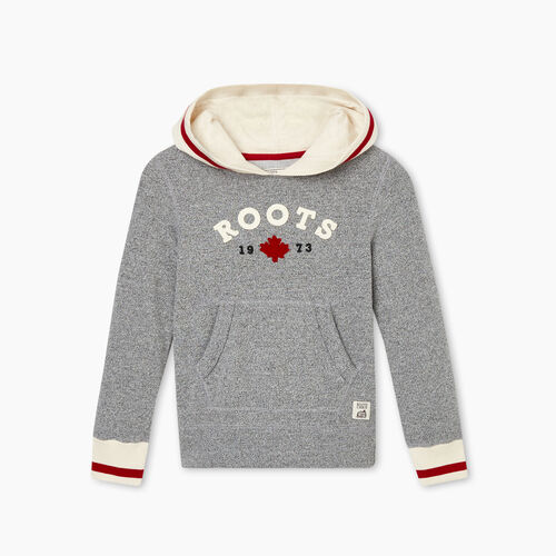 Roots-Sweats Girls-Girls Cabin Cozy Kanga Hoody-Salt & Pepper-A