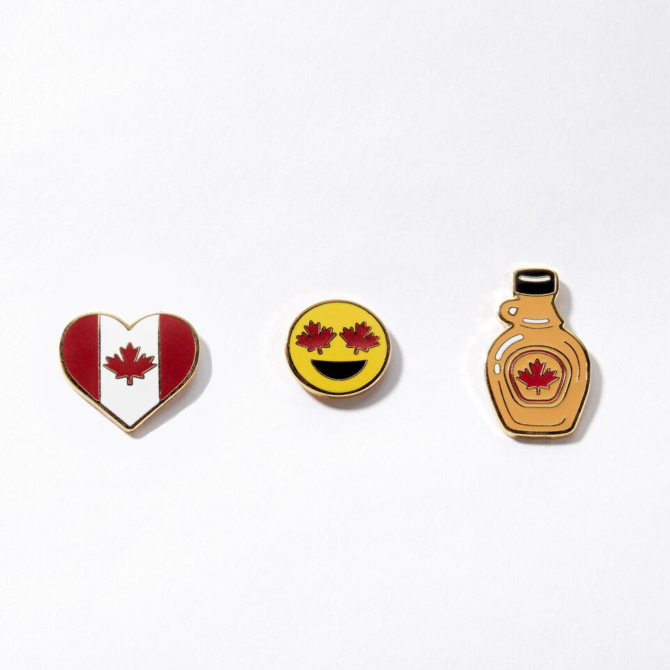 Roots-Canada Heart Pin Set 3 Pack