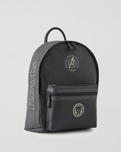 Roots-Leather Backpacks-Avengers Black Panther Leather Backpack-Black-A