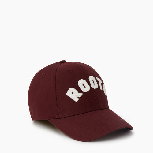 Roots-Men Accessories-Donwood Fitted Baseball Cap-Crimson-A