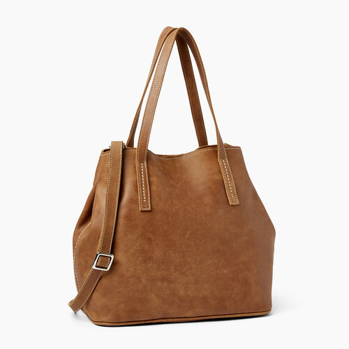 Roots-Leather Collections-Amelia Tote-Natural-A