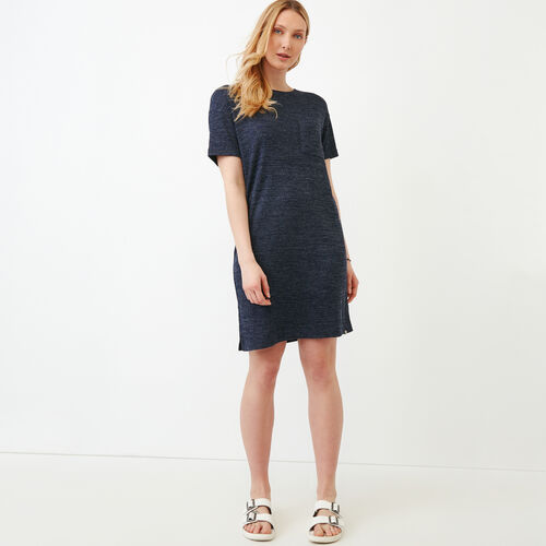Roots-Clearance Women-Laurena Boxy Dress-Eclipse Pepper-A