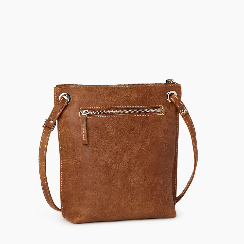 Roots-Women Leather-Festival Bag-Natural-C