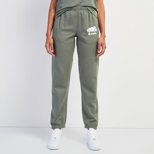 Roots-Women Clothing-Original Sweatpant-Agave Green-A