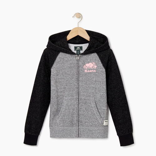 Roots-Kids Our Favourite New Arrivals-Girls Original Full Zip Hoody-Black Pepper-A