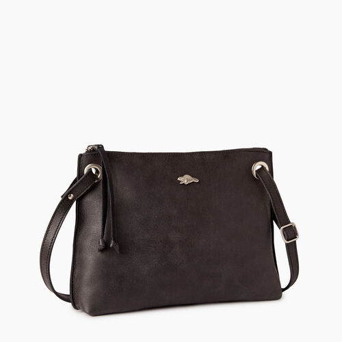 Roots-Leather Crossbody-Edie Bag-Jet Black-A