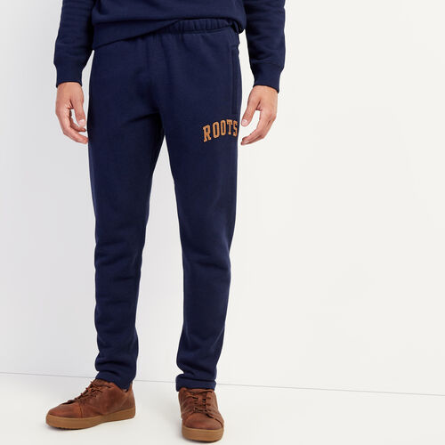 Roots-Men Bottoms-Roots Arch Park Slim Open Bottom Sweatpant-Navy Blazer Mix-A