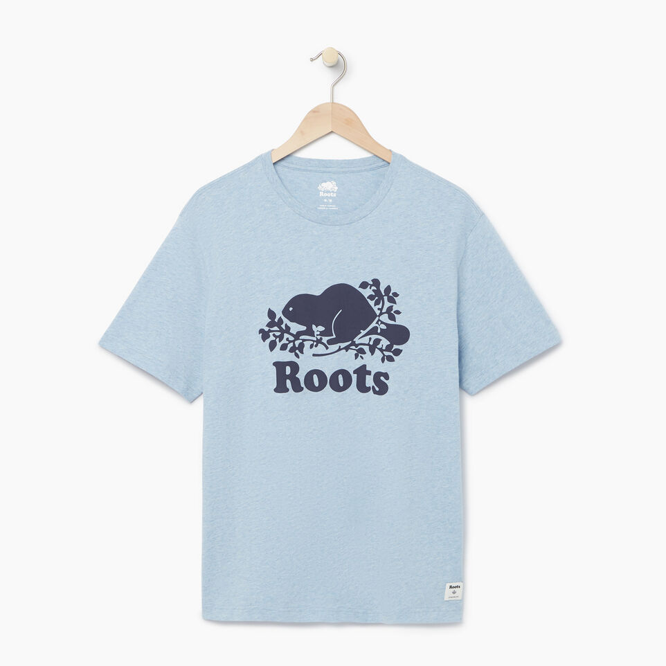 Roots-Men Our Favourite New Arrivals-Mens Cooper T-shirt-Baby Blue Pepper-A