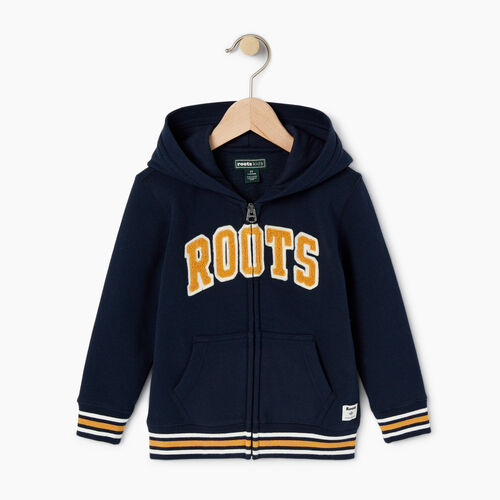 Roots-Kids Toddler Boys-Toddler Roots Varsity Full Zip Hoody-Navy Blazer-A