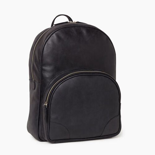 Roots-Leather Our Favourite New Arrivals-Jasper Backpack-Jet Black-A