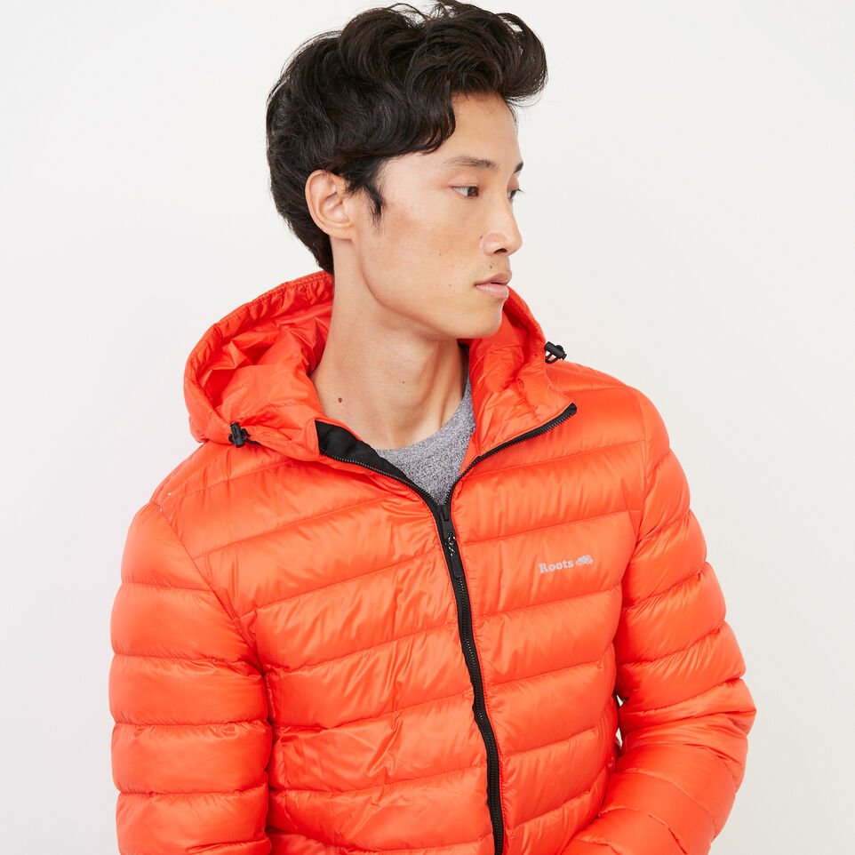 Roots-Men Our Favourite New Arrivals-Roots Packable Down Jacket-Spicy Orange-E