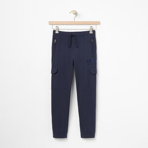 Roots-Kids Sweats-Boys Heavyweight Jersey Utility Pant-Cascade Blue-A