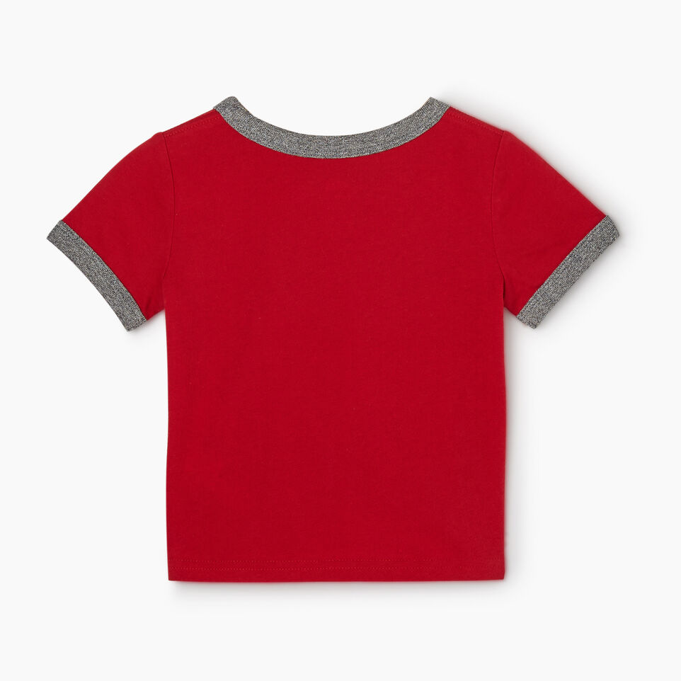 Roots-Kids New Arrivals-Baby Canadian Boy Ringer T-shirt-Sage Red-B