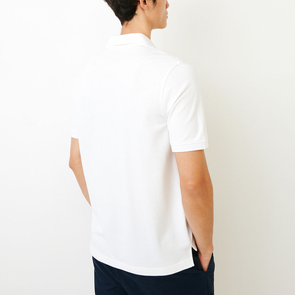Roots-Men Shirts & Polos-Heritage Pique Polo-White-D